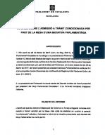 Informe de los letrados sobre la tramitación reforma del reglamento del Parlament