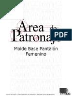Molde Base Pantalón Femenino.doc