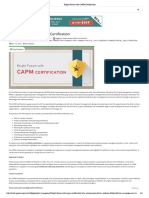 Bright Future With CAPM Certification