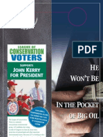 He will Not be in the Pocket of Big Oil