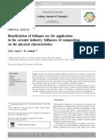 Beneficiation of feldspar ore for application.pdf
