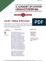 Verbal Rune Magic