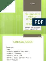 Obligaciones Medico Legales de Los Serumistas