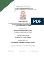 Tesis-la Soberania Alimentaria Como Un Derecho Fundamental Explicito. Necesidad y Urgencia de Reforma Constitucional en El Salvador.