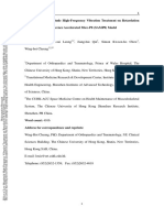 (1) Rejuvenation Research Volume Issue 2015 [Doi 10.1089%2Frej.2015.1759] Guo, An-Yun; Leung, Kwok-Sui; Qin, Jiang-Hui; Chow, Simon Kwoon- -- Effect of Low-Magnitude High-Frequency Vibration Treatment on