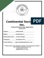 2016-2017 National Continental Scholarship Application (1)