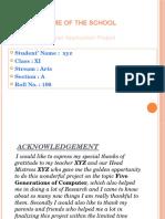 ComputerApplicationProject 5 Generations of Computer