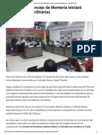02-02-2017 Este viernes, Concejo de Montería iniciará sesiones extraordinarias - LARAZON.CO