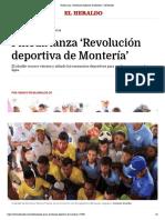 12-08-2016 Pineda lanza 'Revolución deportiva de Montería' | El Heraldo