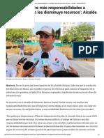 16-02-2017 'Gobierno impone más responsabilidades ...minuye recursos'- Alcalde - LARAZON.CO
