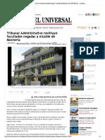 28-01-2017 Tribunal Administrativo restituyó facul...de Montería | EL UNIVERSAL - Cartagena.pdf