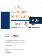 Generic Competency Dictionary