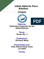 Tarea 1 - Didactica de Las Matematicas - Elsa