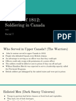 the war of 1812- soldiering in canada