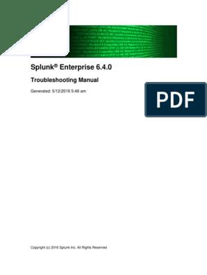 Splunk 6 4 0 Troubleshooting | Transmission Control Protocol