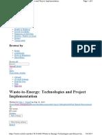 Waste to Energy Technologi