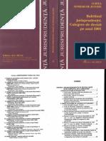 Curtea Supremă de Justiţie - Buletinul Jurisprudenţei. Culegere de Decizii Pe Anul 2001