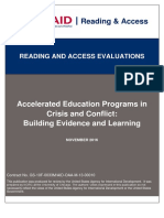 Literature review - accelerated educated programme