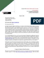 KRRP Letter Re