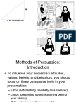 Chapter 18 Methods of Persuasion