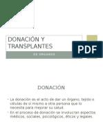 Donación y Transplantes