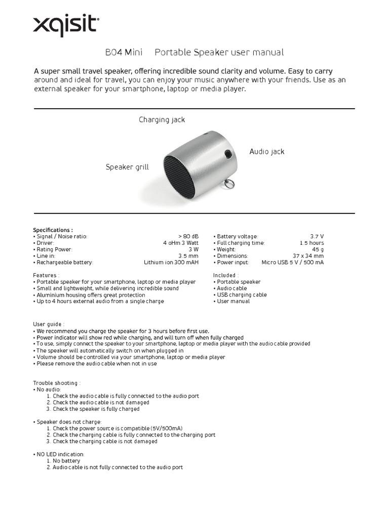 User Manual Zeppelin Air Generator Jpn Honda E3500 Carburetor K1k2 Diagram And Array Xqisit Mini Speaker B04 Loudspeaker Laptop Rh Scribd