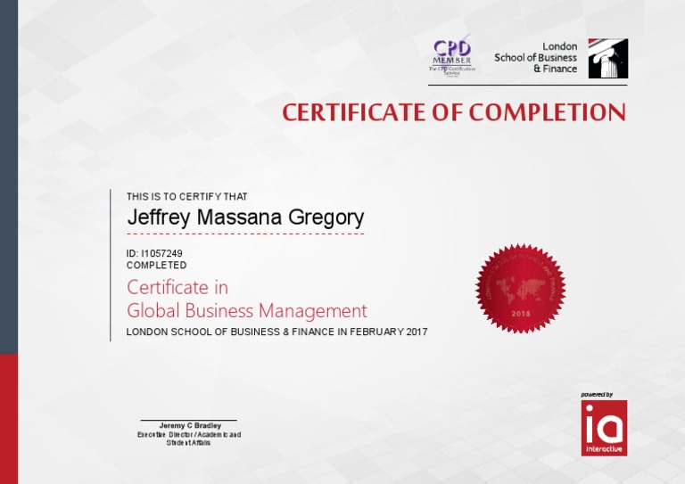 London School of Business and Finance - Certificate in Global ...