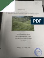 Reconocimineto arqueológico para la modificación de la Licencia Ambiental Bloque Moriche (Puerto Boyacá, Boyacá)