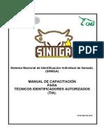 Manual de Capacitacion Para Tecnicos Identificadores Autoriados (Tia)