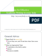 http://myessayhelp.co.uk and http://myassignmenthelp.com - Essay Writing Guide