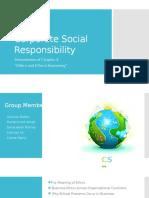 Corporate Social Responsibility Presentation