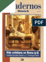 Cuadernos Historia 16, Nº 050 - Vida Cotidiana en Roma (II)