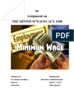 D-Minimum Wages Act