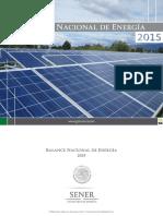 Balance Nacional de Energ a 2015