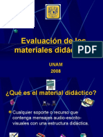 Evaluación de Los Materiales Didácticos (2008)