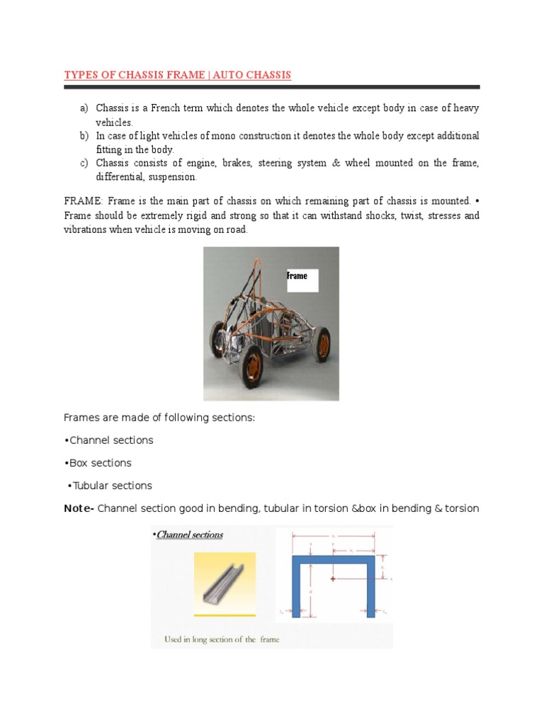 Types of Chassis Frame | Transport | Vehicles