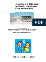 Sifat Dan Penyimpanan Vaksin IPV Serta Tatacara Pemberiannya