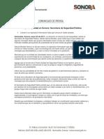 05/01/17 Hay Tranquilidad en Sonora Secretaría de Seguridad Pública –C.011722
