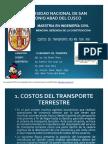 Costos de Transporte m3-Km y Ton-km