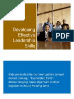 Materi Pelatihan Effective Leadership Skills