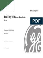 Ultrasonido GE LOGIQ 700, Quick Star Guide