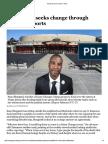 MAKING A DIFFERENCE San Diegan seeks change through dialogue, sports