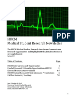 HUCM Student Research Newsletter Feb. 2017