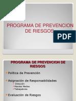 Programa de Prevención de Riesgos