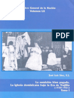 Vol 60. La Sumision Bien Pagada. La Iglesia Dominicana Bajo La Era de Trujillo 1930-1961 Tomo i - Jose Luis Saez