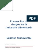 Prevención de Riesgos en La Industria Alimentaria