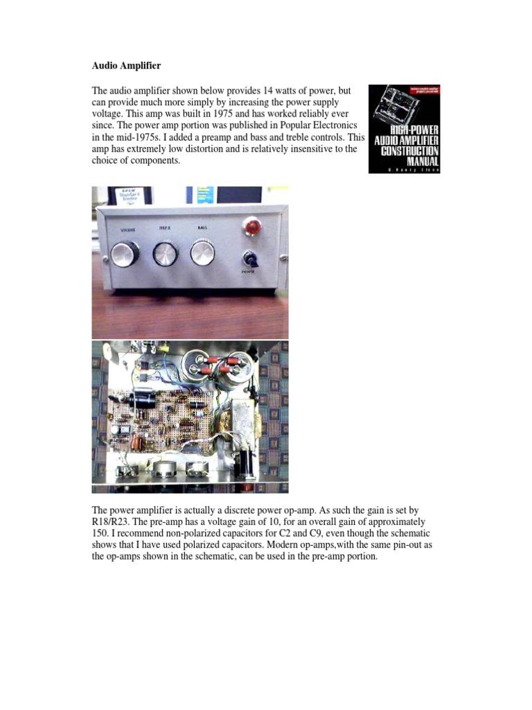 70w audio amplifierpdf operational amplifier amplifier