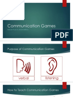 esl facilitation - communication games
