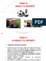 T.6 La Radio y El Deporte