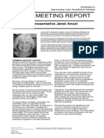 Janet Ancel Town Meeting Report